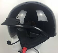D.O.T Half Helmet with Headset / Intercom (Harley Davidson, GoldWing or BMW)