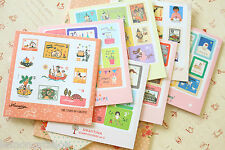 Cartoon Stamp Stickers 4pc cute 7321 planner diary scrapbooking journal sticker