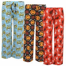 Boys Mens Football Lounge Pants Pyjama Bottoms Manchester Utd City Liverpool Fc