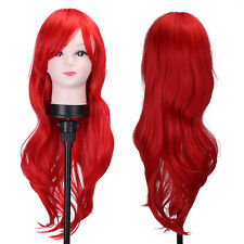 Heat Resistatant Wigs Fashion Women Lady Curly Long Wavy Full Hair Cosplay Wig M
