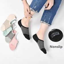 5 10Pack Womens Invisible Loafer Boat No Show Nonslip Liner Low Cut Cotton Socks