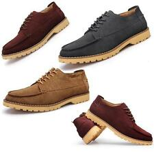 Mens Suede Leather Driving Brogues Shoes Lace Up Loafers OL Business Plus Size