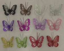 8cm Clip On Butterfly- Wedding/Craft/Parties/Christmas Decor In Various Colours