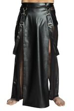 black Long Skirt H038 Men Gothic Fetish Bizarre Sexy S M L XXXXL
