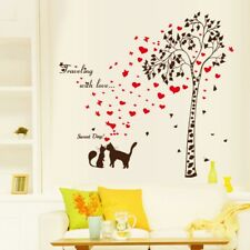 Flower Tress Butterfly Wall Stickers Lovely Cats Wall Decal Stickers Home Decor