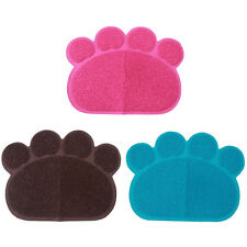 Home Pet Feeding Mat Pad Cute Paw Bed Dish Bowl Feed Placemat Wipe Clean dog cat