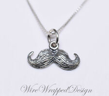 Necklace MUSTACHE - Sterling Silver - CUSTOMIZABLE - Silver Necklace Gift Charm