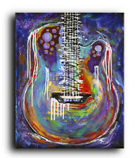 Lg. Canvas and Fine Art Prints Contemporary Les Paul Guitar Modern Abstract
