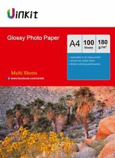 A4 Glossy Photo Paper Inkjet Paper Printer 180Gsm 100-1000 Sheets Uinkit