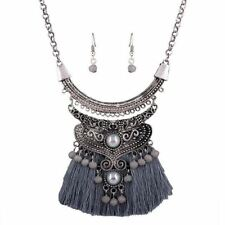 New Fashionable Zinc Alloy Metal Pendant Necklace Jewelry Set Women