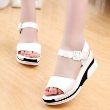 Black White Color Soft Leather Open Toe high-heeled Sandal For Women