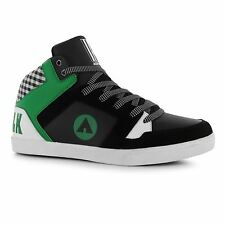 Airwalk Roxbury Mid Top Skate Shoes Mens Black/Green Casual Trainers Sneakers