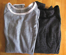 NWOT Lululemon RUN Turn Around Long Sleeve Yoga Shirt Black Heathered Coal Sz 4