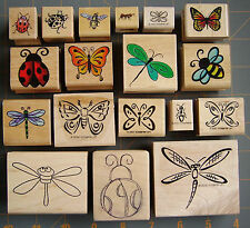 INSECT ~ BUG THEME RUBBER STAMPS ~ UNIQUE GARDEN & NATURE DESIGNS  ~ YOU CHOOSE