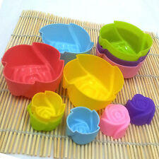 5pcs Nice Silicone Rose Muffin Cup Cake Baking Mold Chocolate Jelly Maker Mould