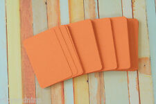50pc blank APRICOT Orange Business Cards assorted size ATC craft DIY name cards
