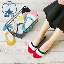 5/10 Pairs Lot Women Invisible No Show Nonslip Loafer Liner Cotton Socks Low Cut