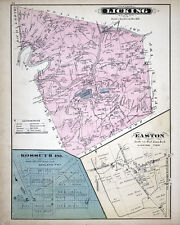 1877 Map of Licking Township Clarion County Pennsylvania Oil Wells