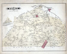 1877 Map of Troy Township Clarion County Pennsylvania