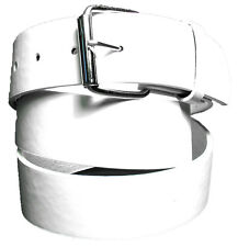 BENDER BELT ? White Golf Belt - BONDED LEATHER | REMOVEABLE BUCKLE