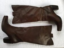 SUNDANCE ~ COROLE COWBOY, SIDE BUCKLES, PULL-ON RIDING BOOT ~ BROWN ~ SIZE EU 39