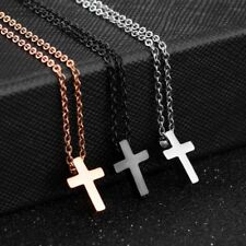 Fashion Stainless Steel Jewelry Cross Design Necklace Pendant Men Women Lovers