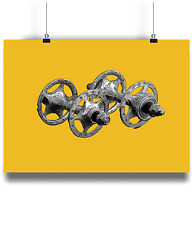 Campagnolo Sheriff Star Hubs   bicycle prints illustration  cycling y