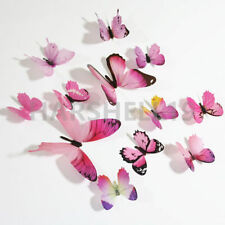 12pcs Decals Stickers 3D Butterfly Home DIY Wall Art Kids Child Room Decoration