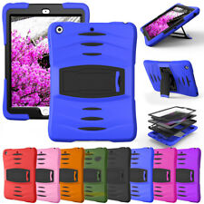 For Apple iPad Tablet Screen Protector Case + Shockproof Hybrid Rugged Cover