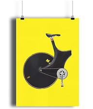 Lotus Sport Chris boardman one hour Record  bicycle prints illustration  cycliny