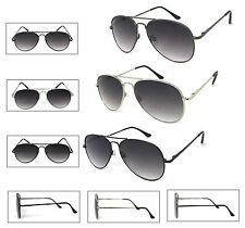 Retro Aviator Full Lens Reading Sunglasses Sun Reader Metal Frame Spring Temples