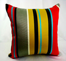 Striped Multi Color Pillow Cover Throw Cushion Case Sofa Decor Red Blue Tan Grey