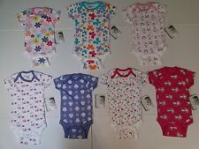 Baby Girls Assorted Fashion Printed Short Sleeve Onesies U CHOOSE NB to 12 Month