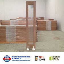 1 LITE Bi Fold Clear Glass French Solid Timber Doors Hardwood Bifold Sidelight