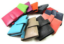 Unisex Premium Soft Leather Credit Card Holder Coin Pouch Key Chain Wallet Purse