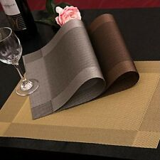 4PCS Placemat Dining Table Mat Slip Resistant Bowl Pad Waterproof PVC Fiber New