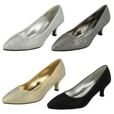 Womens Anne Michelle Diamante Court Shoes