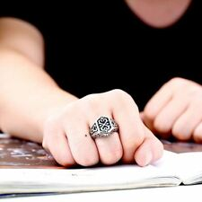 Women Cross Stainless Gothic Pattern Jewelry Ring 2 Color
