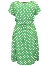 NEW Eaonplus plus size dress 18/20 22/24 26/28 30/32 green polka dot spotted