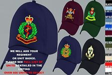 UNITS D TO I EMBROIDERED REGIMENTAL ARMY RAF ROYAL NAVY AIR FORCE BASEBALL CAP