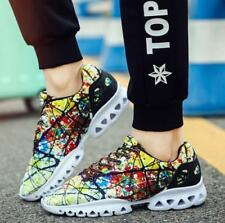 Men Fashion Sneakers Mesh Breathable Sports Athletic Casual Camouflage Shoes SH
