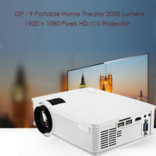 GP-9 Portable Home Theater 2000LM 1920x1080 Pixels Multimedia HD LCD Projector