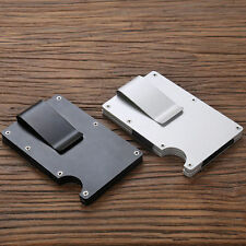 New Stainless Steel Elastic Band Slim Money Clip Credit Card Holder Wallet Purse