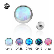 16G Opal Gem G23 Titanium Internally  Dermal Tops Piercing Anchor Head Accessory