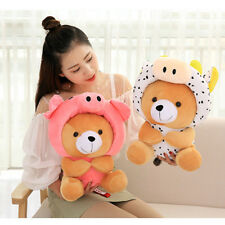 Cute Bear With Chinese Zodiac Hat Plush Doll Toy Kid Baby Lovely Gift Wholesale