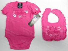 STEELER Baby PINK NEW 'Daddy's Little Steeler Girl' Gerber Bodysuit Onesie & Bib