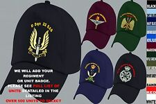 UNITS R TO S EMBROIDERED REGIMENTAL ARMY RAF ROYAL NAVY AIR FORCE BASEBALL CAP