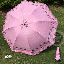 NEW Compact Folding UV Protection Sun Rain Umbrella Parasol