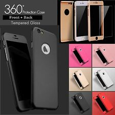 Hybrid 360° Shockproof Case Tempered Glass Cover For Apple iPhone 7