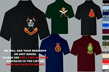 UNITS D TO I EMBROIDERED ARMY RAF ROYAL NAVY AIR FORCE MARINES POLO SHIRTS